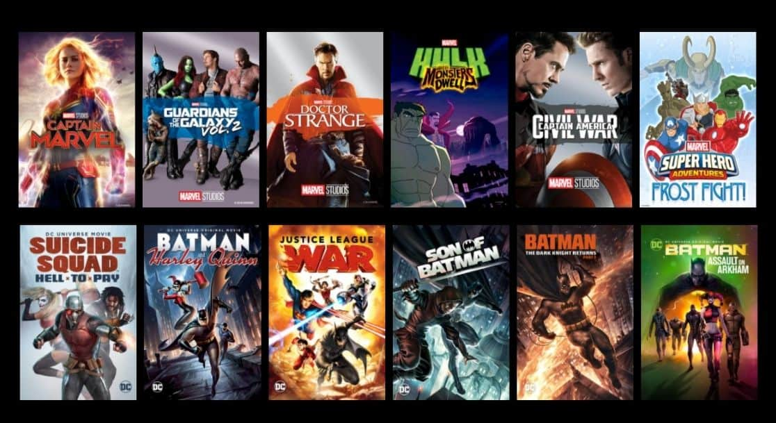 Movies Anywhere DC Marvel