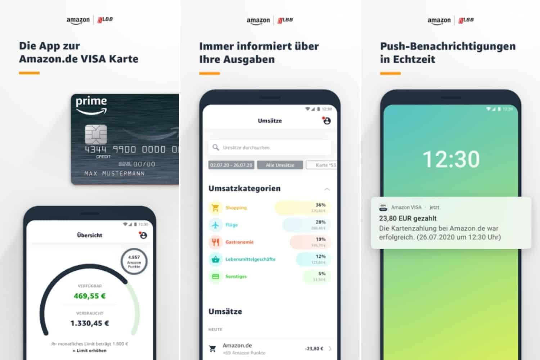 Amazon Visa Karte Mobile Banking