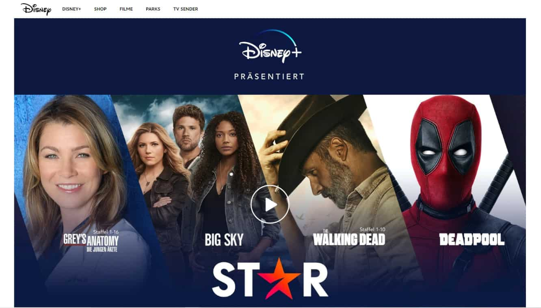 Disney Plus Star Inhalte