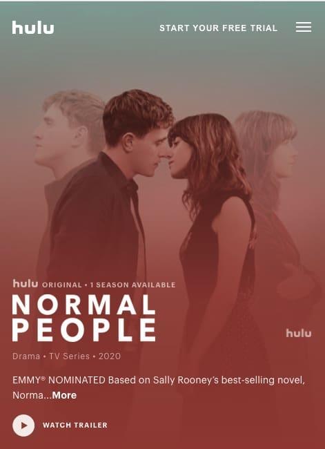 Hulu Normal People Serie