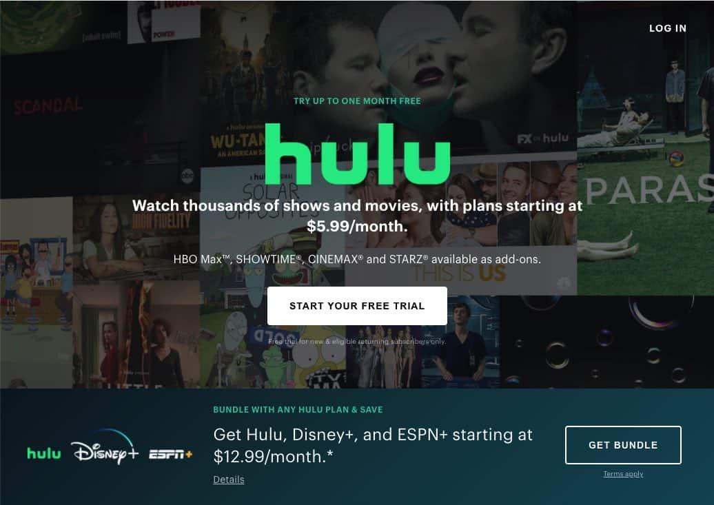 Hulu Subscription Seite