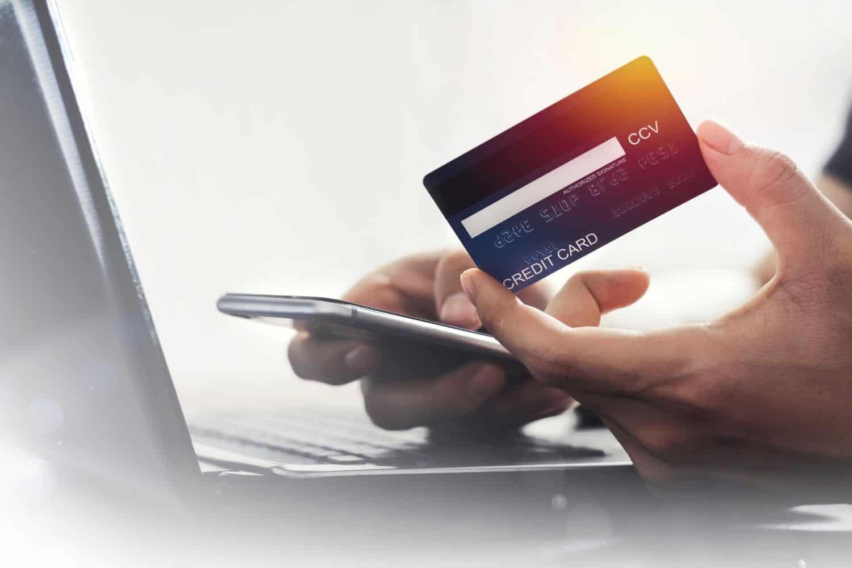 Kreditkarte Rueckseite
