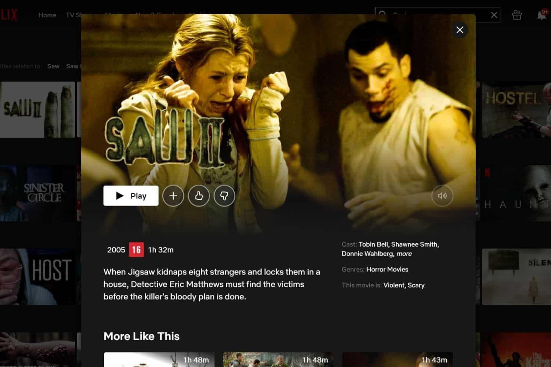 Netflix Brazil Saw II