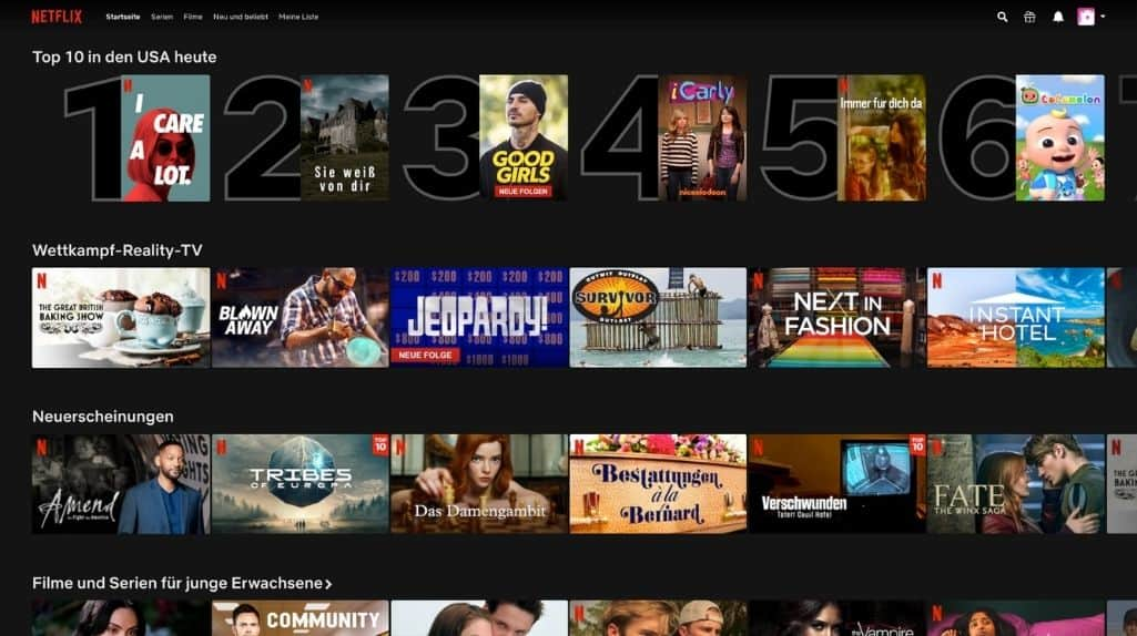 Screenshot nette Serie aus dem US-Netflix