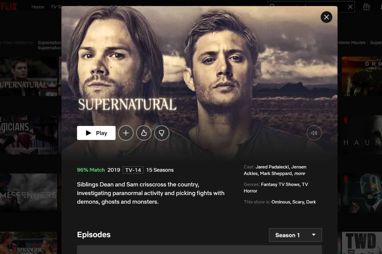 Netflix USA Supernatural