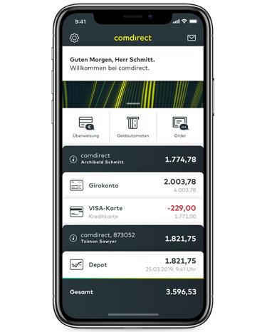 Comdirect Mobiles App Verlauf