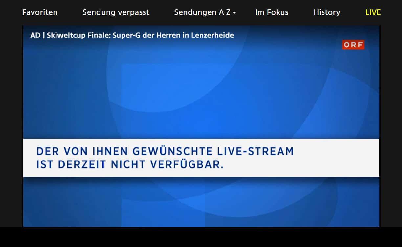 ORF Geoblocking Video Nicht Verfügbar