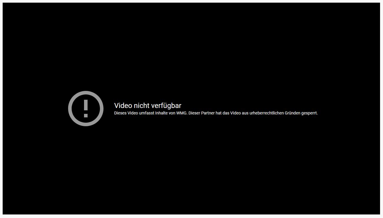 YouTube Video Gesperrt