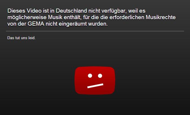 YouTube Gesperrt Deutschland GEMA