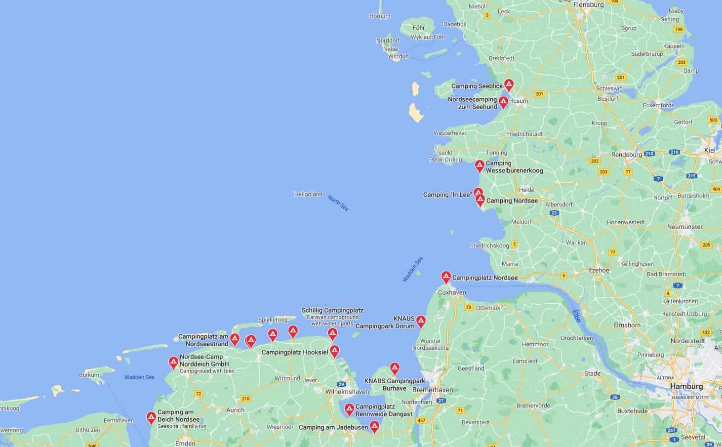 Campingplatz Nordsee Google Maps