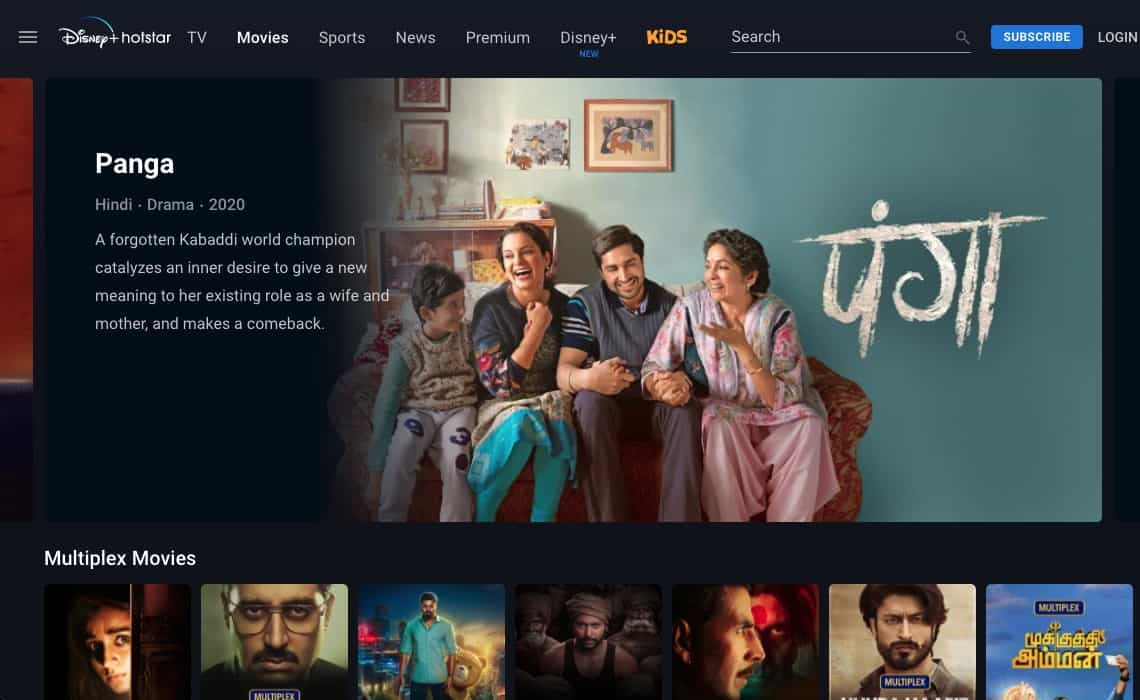 Disney Hotstar Indien Bollywood Mediathek