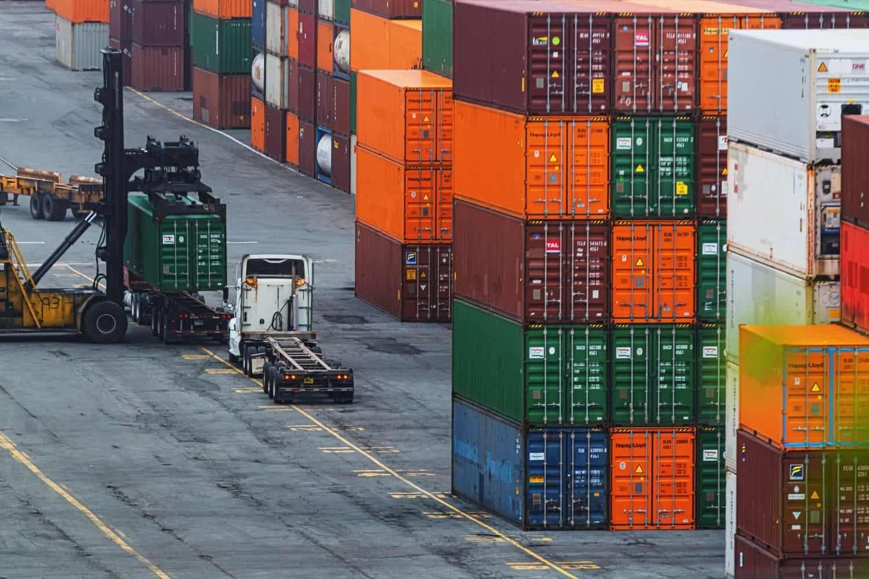 Datenpaketen Containerhafen
