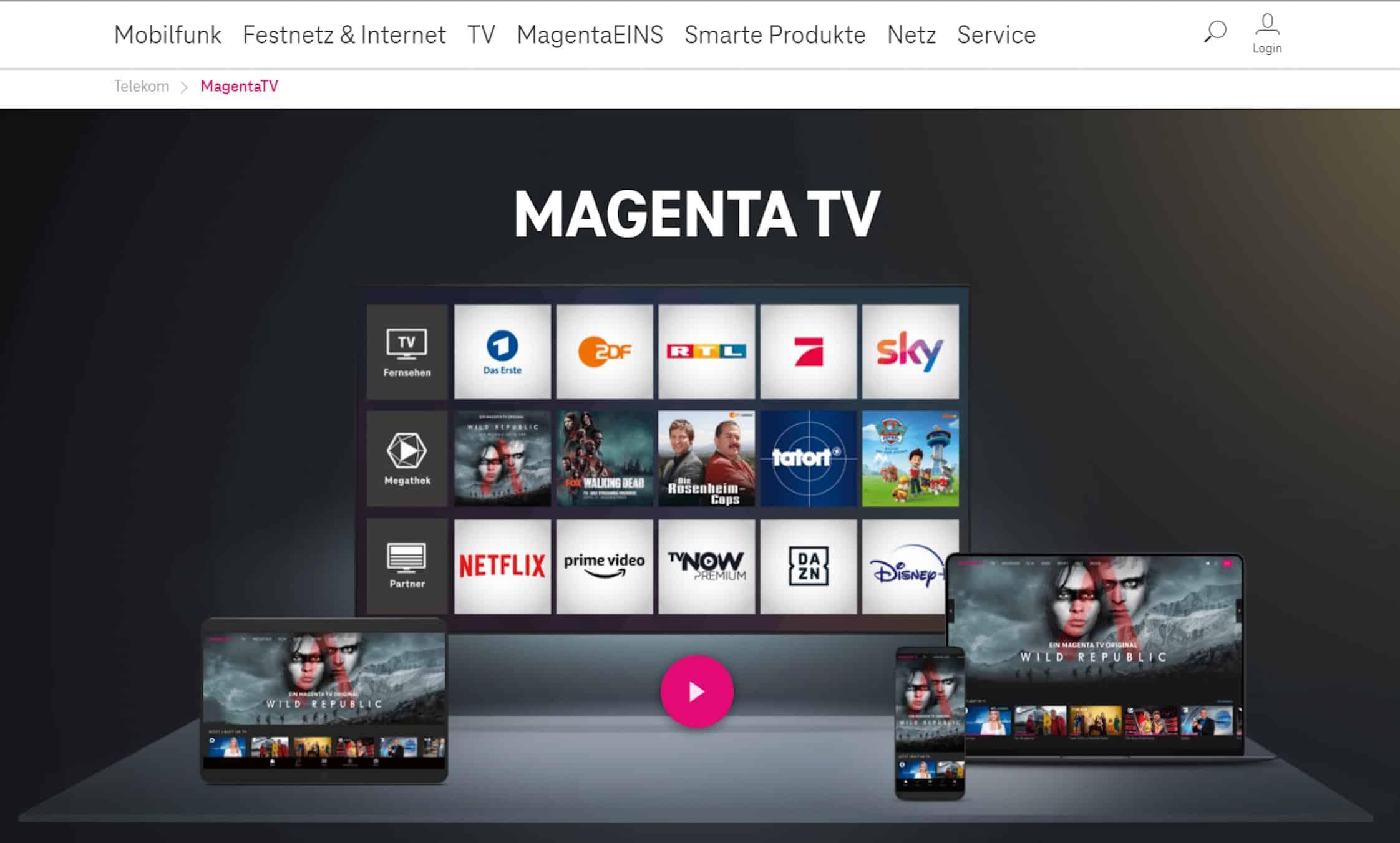MagentaTV Mediathek