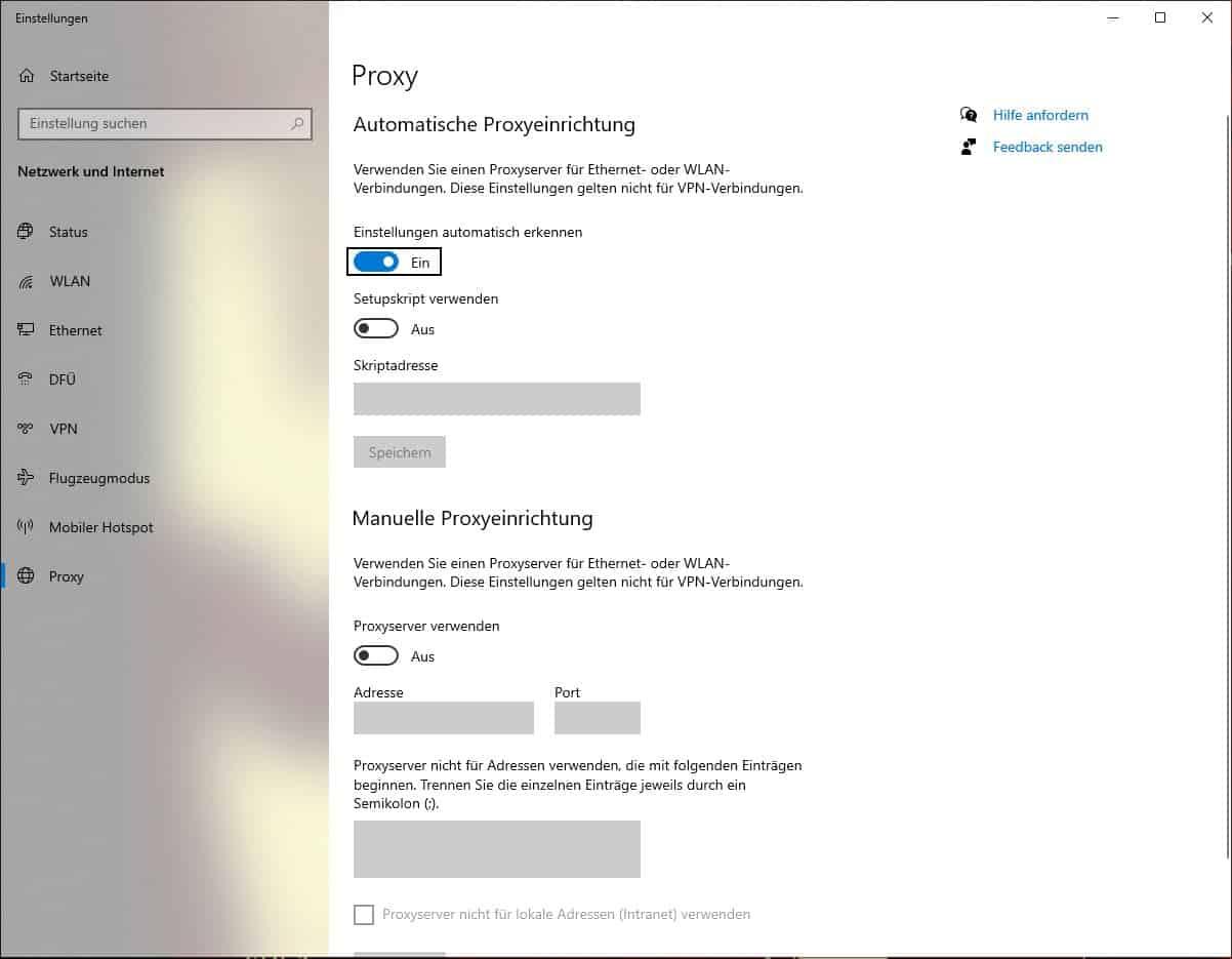 Proxy Deutschland Windows