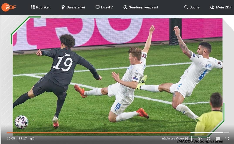 ZDF Fussball Sane Europameisterschaft